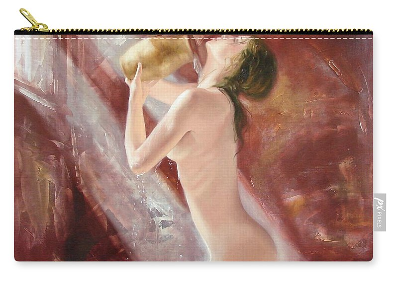 Oil Carry-all Pouch featuring the painting The Freshness by Sergey Ignatenko