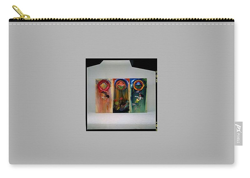 Fall From Grace Carry-all Pouch featuring the painting The Fruit Machine Stops by Charles Stuart