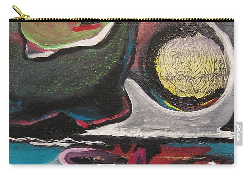 Abstract Paintings Carry-all Pouch featuring the painting The Full Moon2 by Seon-Jeong Kim