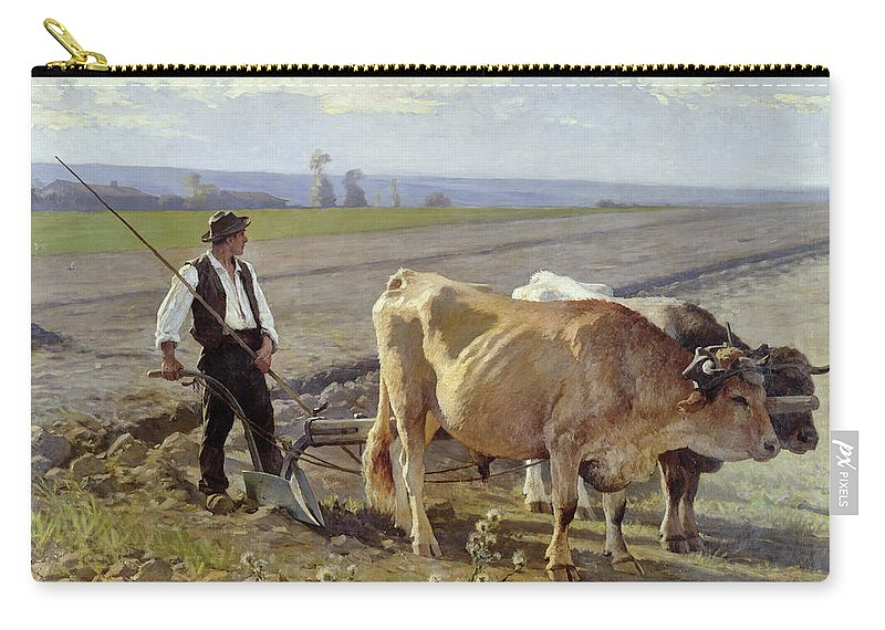 The Carry-all Pouch featuring the painting The Furrow by Edouard Debat-Ponsan