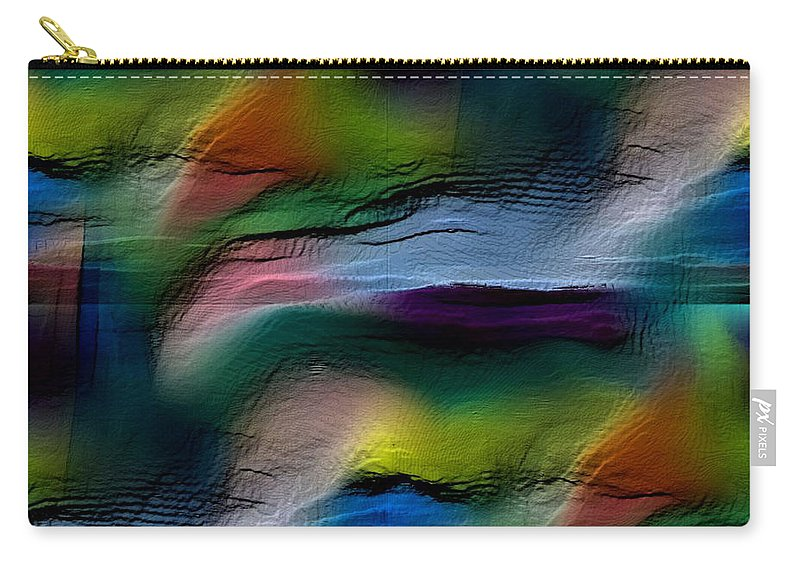 Abstract Carry-all Pouch featuring the digital art The Future Looks Bright by Ruth Palmer