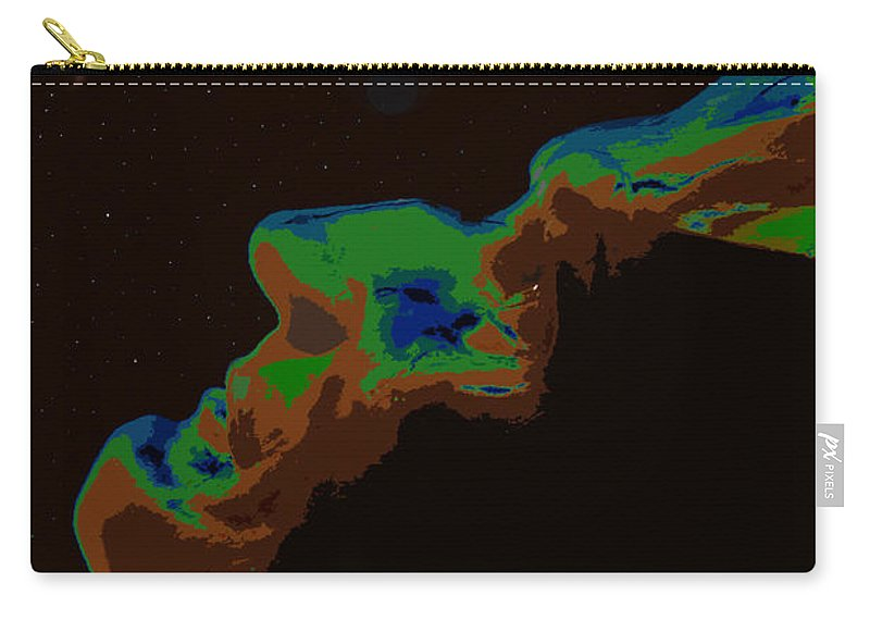 Future Carry-all Pouch featuring the painting The Future Of Man by David Lee Thompson