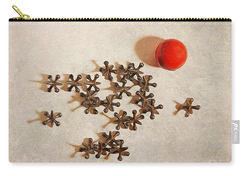 Cindy Archbell Carry-all Pouch featuring the photograph The Game Of Jacks by Cindy Archbell