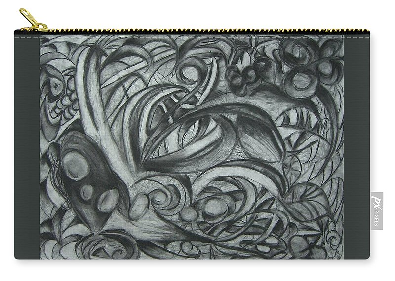 Organic Carry-all Pouch featuring the drawing The Garden by Amanda Kabat