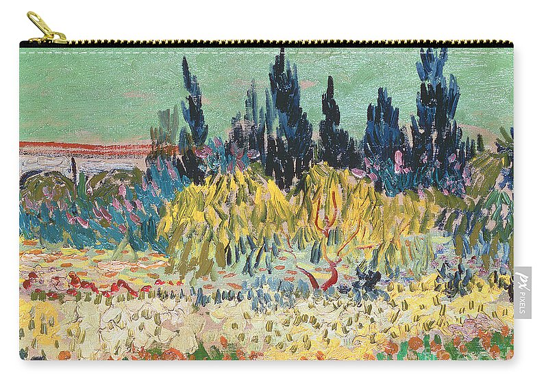 Garden In Bloom Carry-all Pouch featuring the painting The Garden At Arles by Vincent Van Gogh