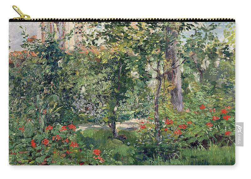 Garden Carry-all Pouch featuring the painting The Garden At Bellevue by Edouard Manet