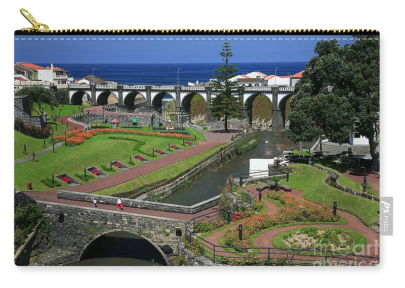 Park Carry-all Pouch featuring the photograph The Gardens Of Ribeira Grande by Gaspar Avila