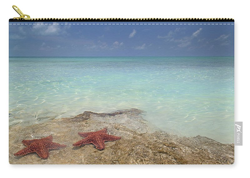 Starfish Carry-all Pouch featuring the photograph The Gate Keepers by Betsy Knapp