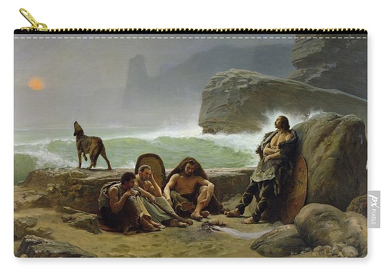 The Carry-all Pouch featuring the painting The Gaulish Coastguards by Jean Jules Antoine Lecomte du Nouy