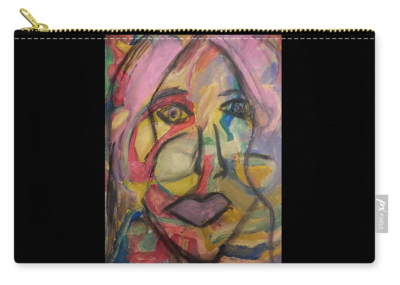 Abstract Carry-all Pouch featuring the painting The Gaze by Patricia Byron