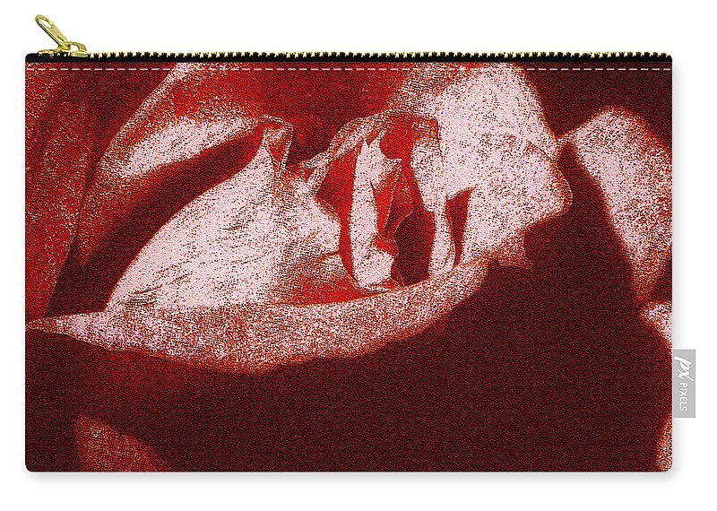 Gentle Carry-all Pouch featuring the digital art The Gentle Savage by Max Steinwald