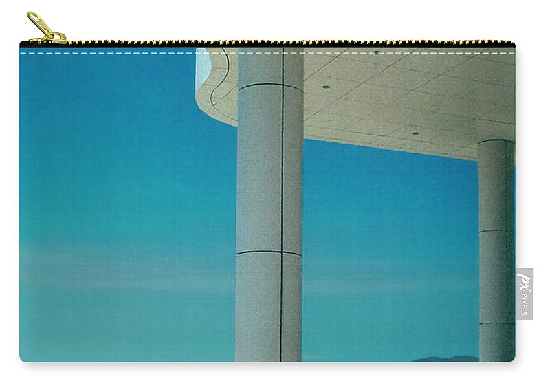 Architecture Carry-all Pouch featuring the photograph The Getty Panel 2 Of Triptyck by Steve Karol