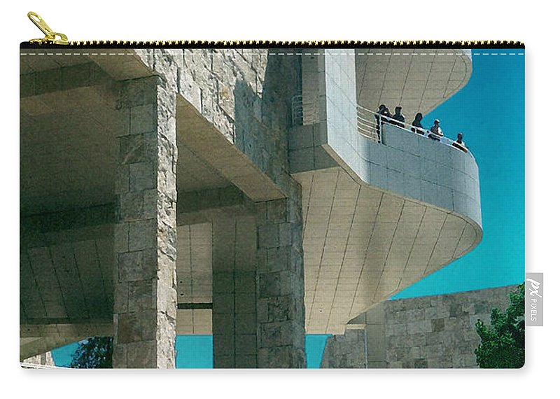 Architecture Carry-all Pouch featuring the photograph The Getty Panel Three From Triptych by Steve Karol
