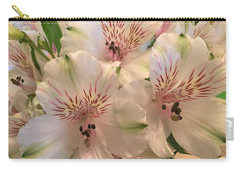 Lillies Carry-all Pouch featuring the photograph The Gift by Sonja Jones