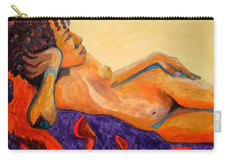 The Girl From Ipanima Carry-all Pouch featuring the painting The Girl From Ipanima by Esther Newman-Cohen
