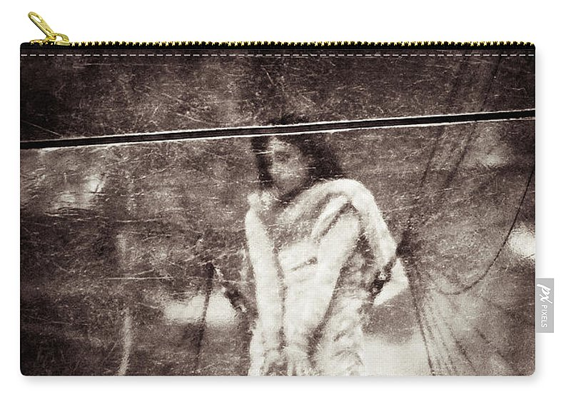 Girl Carry-all Pouch featuring the photograph The Girl In The Bubble by Dave Bowman