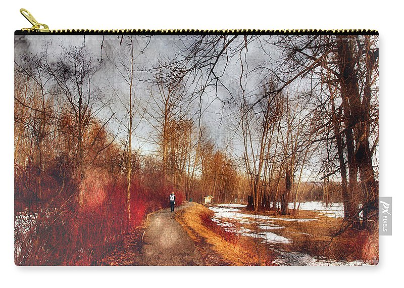 Path Carry-all Pouch featuring the photograph The Girl On The Path by Tara Turner