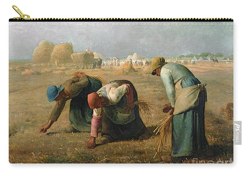 The Carry-all Pouch featuring the painting The Gleaners by Jean Francois Millet