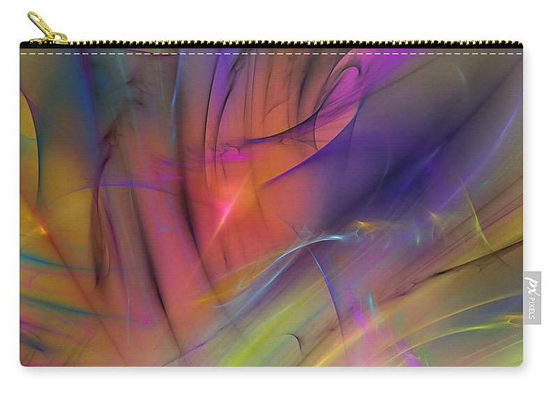 Abstract Carry-all Pouch featuring the digital art The Gloaming by David Lane