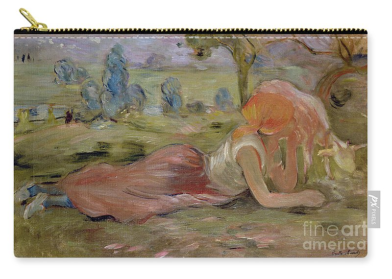 The Carry-all Pouch featuring the painting The Goatherd by Berthe Morisot