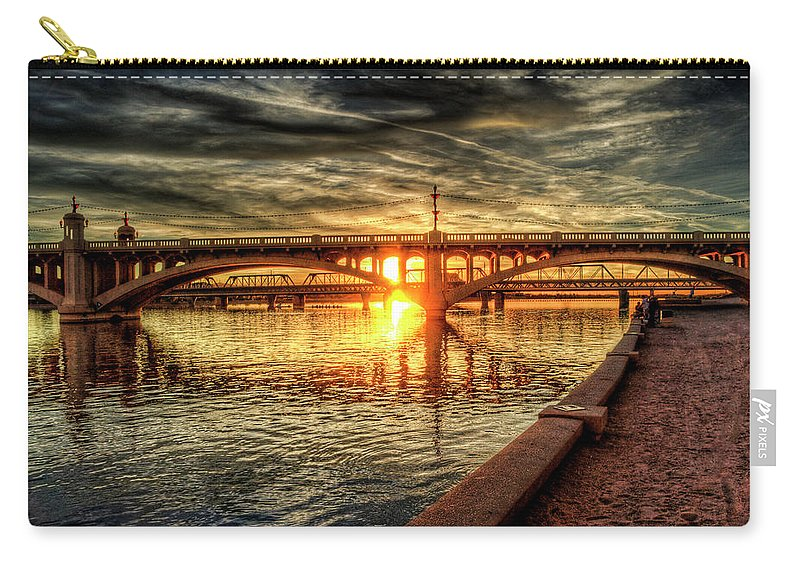 Arizona Carry-all Pouch featuring the photograph The Golden Hour by Saija Lehtonen