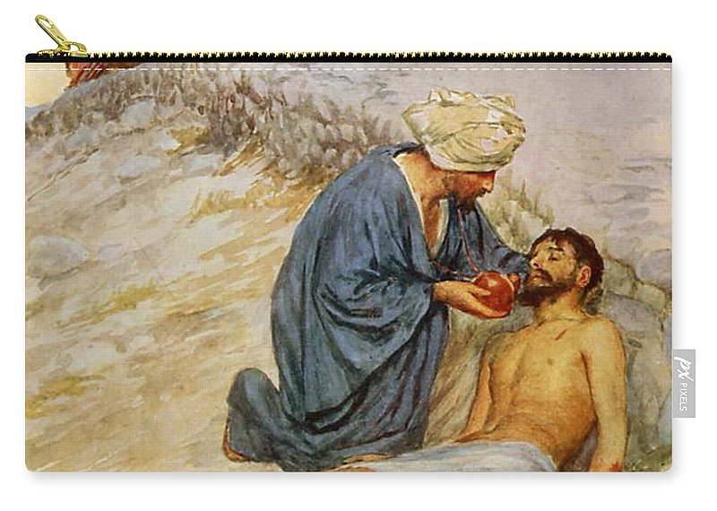 Bible Carry-all Pouch featuring the painting The Good Samaritan by William Henry Margetson