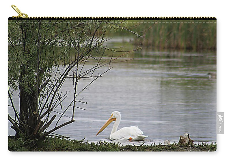 Goose Carry-all Pouch featuring the photograph The Goose And The Pelican by Alyce Taylor
