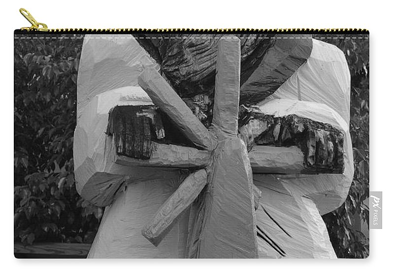 Black And White Carry-all Pouch featuring the photograph The Gordon Fisherman by Rob Hans