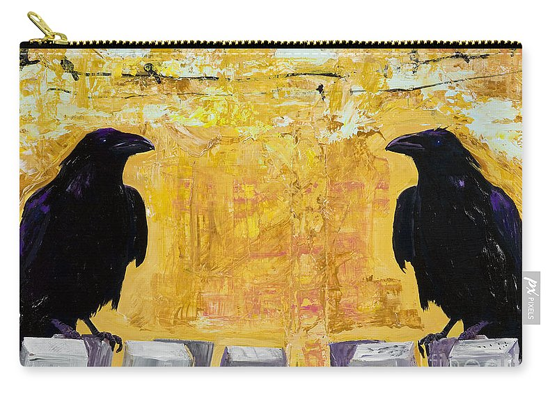 Abstract Realism Carry-all Pouch featuring the painting The Gossips by Pat Saunders-White