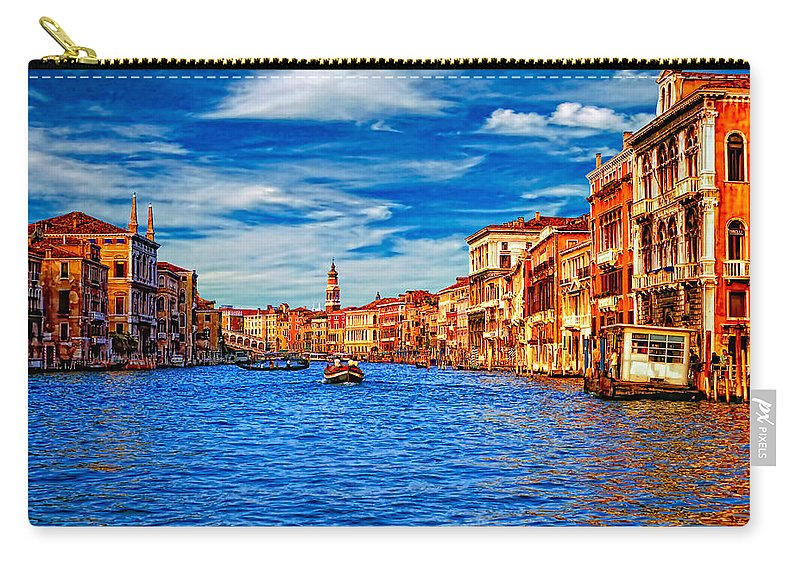 Venice Carry-all Pouch featuring the photograph The Grand Canal by Steve Harrington