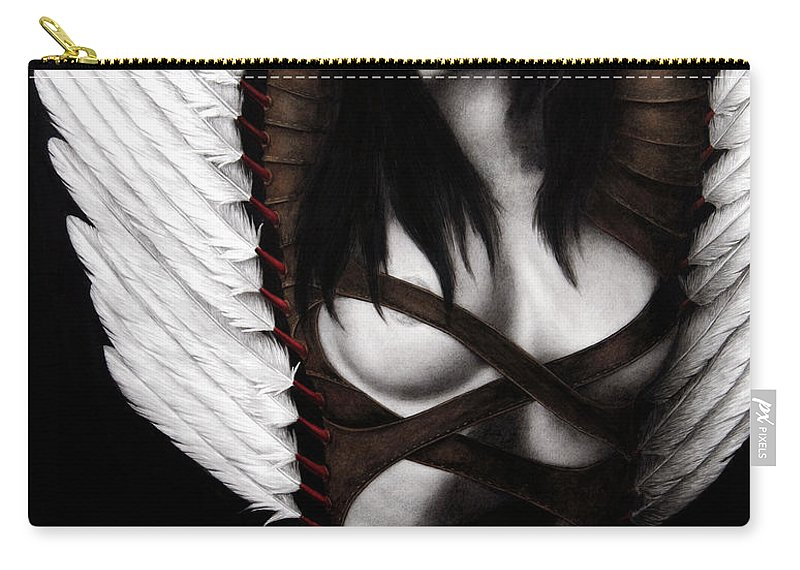 Woman Carry-all Pouch featuring the painting The Grand Delusion by Pat Erickson