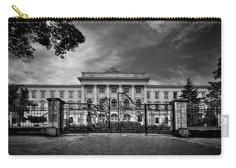 Gate Carry-all Pouch featuring the photograph The Grand Entrance by Evelina Kremsdorf