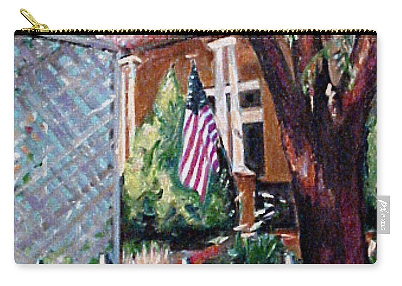 Art Carry-all Pouch featuring the painting The Grant House by Karen Francis