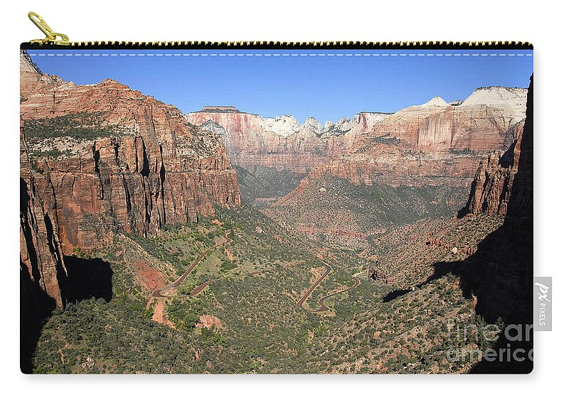 Fine Art Photography Carry-all Pouch featuring the photograph The Great Canyon Of Zion by David Lee Thompson