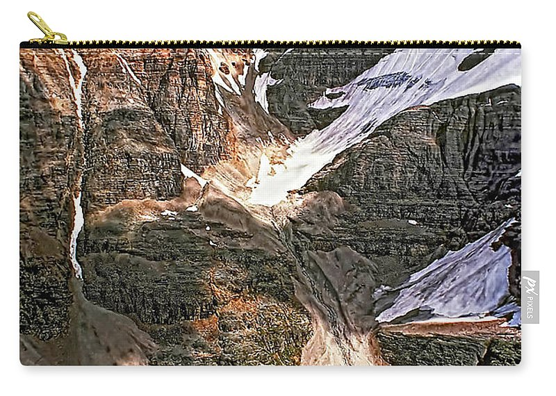 Canadian Rockies Carry-all Pouch featuring the photograph The Great Divide by Steve Harrington