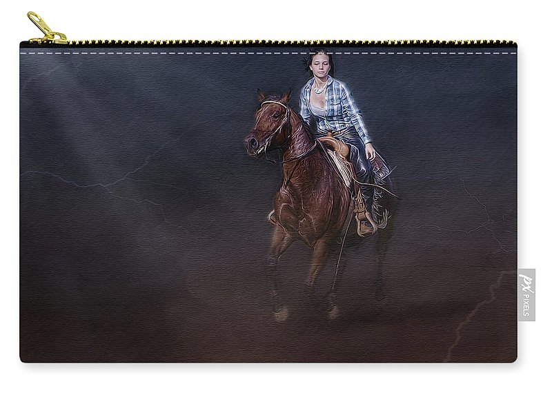 Animals Carry-all Pouch featuring the photograph The Great Escape by Susan Candelario