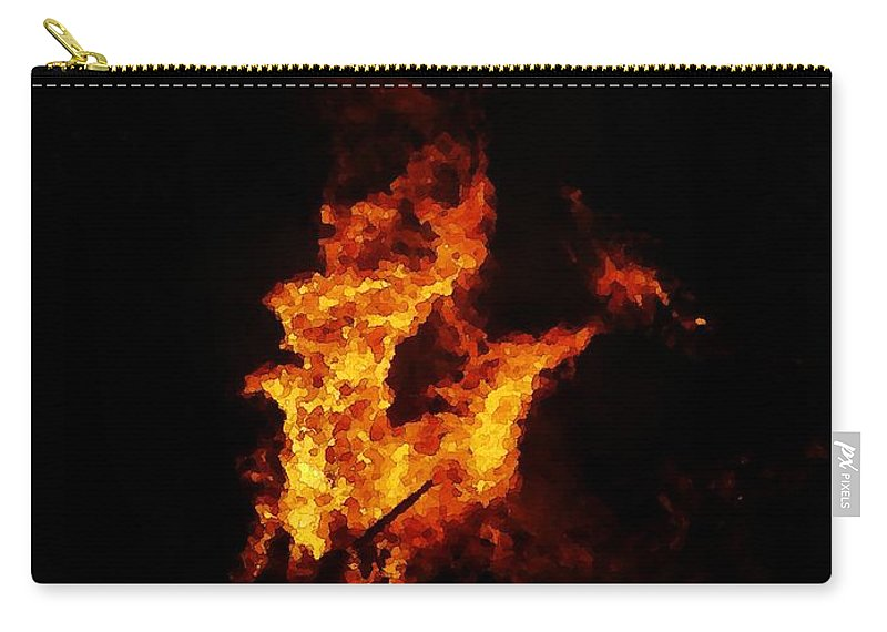 Fire Carry-all Pouch featuring the painting The Great Fire by Steve K