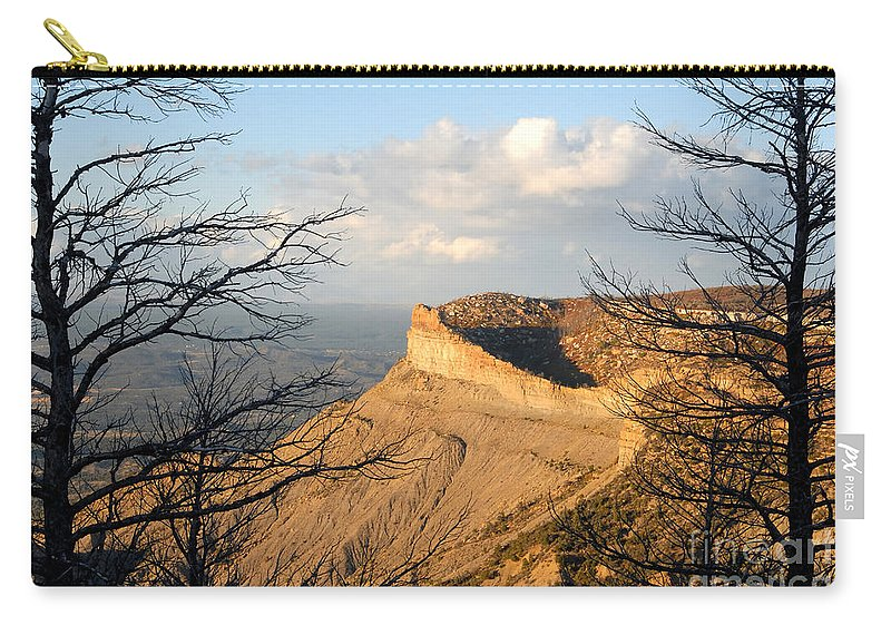 Mesa Carry-all Pouch featuring the photograph The Great Mesa by David Lee Thompson