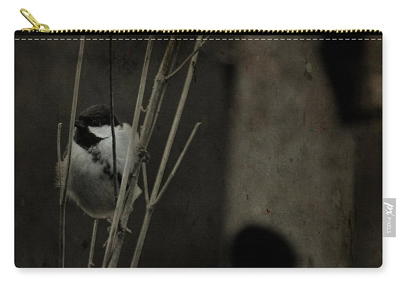 Tit Carry-all Pouch featuring the photograph The Great Tit by Angel Tarantella