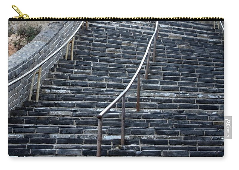 Steps Carry-all Pouch featuring the photograph The Great Wall Steps by Carol Groenen