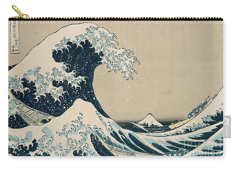Wave Carry-all Pouch featuring the painting The Great Wave Of Kanagawa by Hokusai