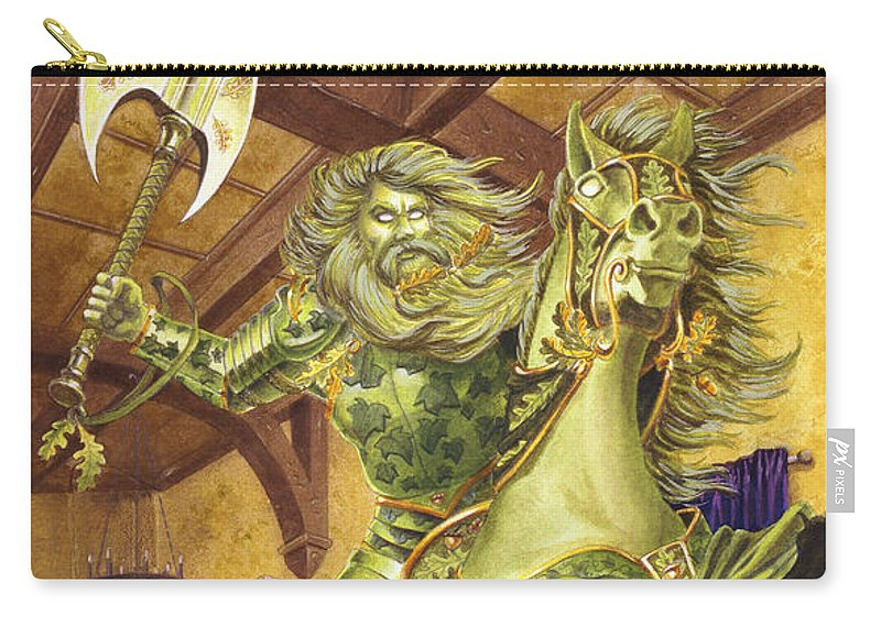 Fine Art Carry-all Pouch featuring the painting The Green Knight by Melissa A Benson