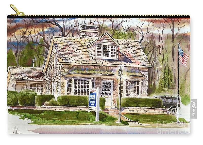 The Greystone Inn In Brigadoon Carry-all Pouch featuring the painting The Greystone Inn In Brigadoon by Kip DeVore