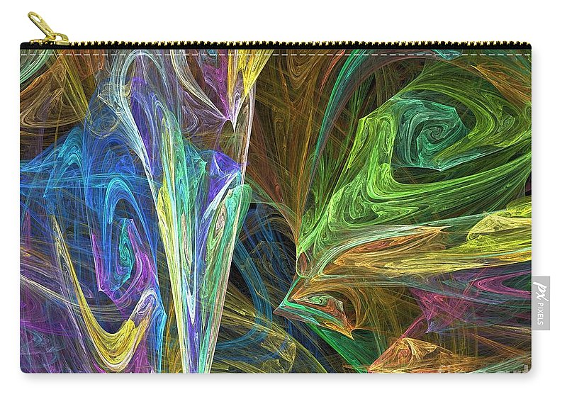Fractals Carry-all Pouch featuring the digital art The Groove by Richard Rizzo