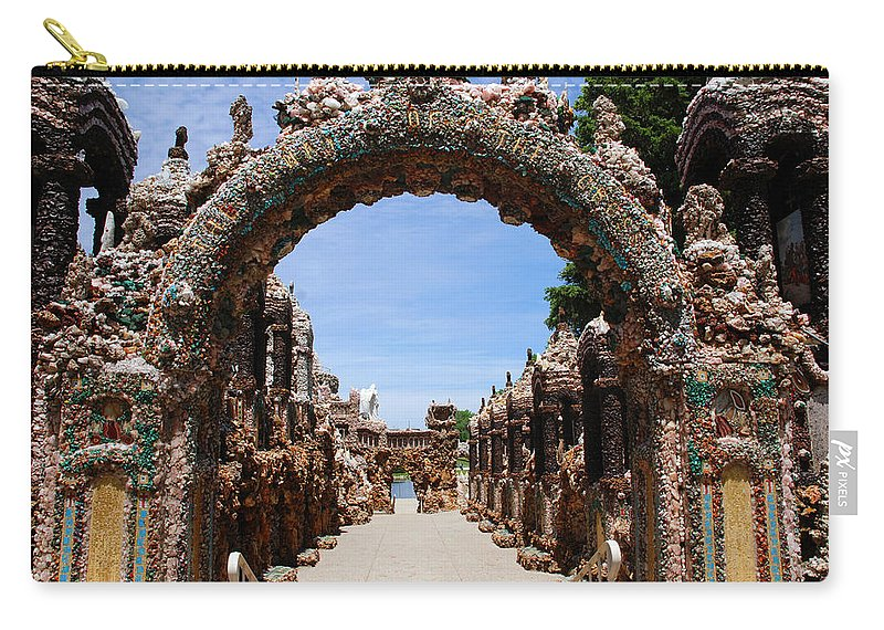 Photography Carry-all Pouch featuring the photograph The Grotto Of Redemption by Susanne Van Hulst