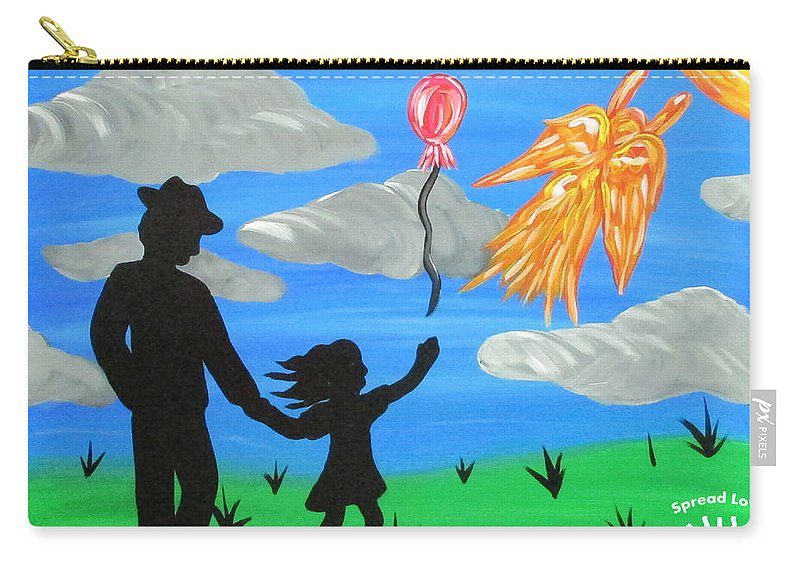 Abstract Carry-all Pouch featuring the painting The Guardian by Parker Beaudoin