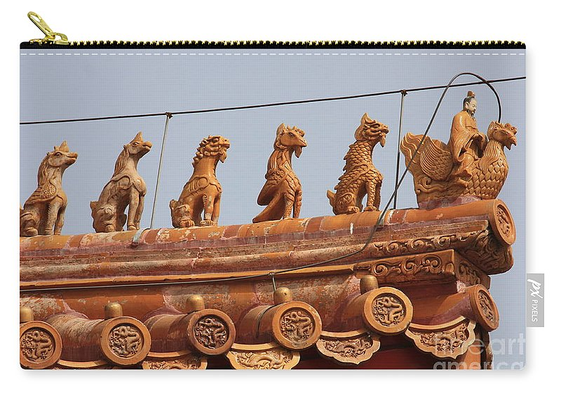 Guard Carry-all Pouch featuring the photograph The Guardians Of The Forbidden City by Carol Groenen