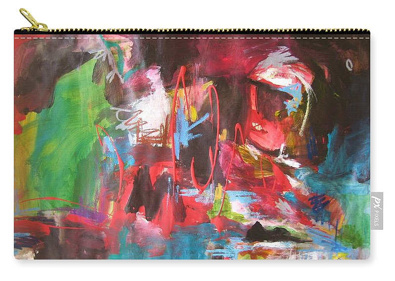 Abstract Carry-all Pouch featuring the painting The Ha Ha by Seon-Jeong Kim