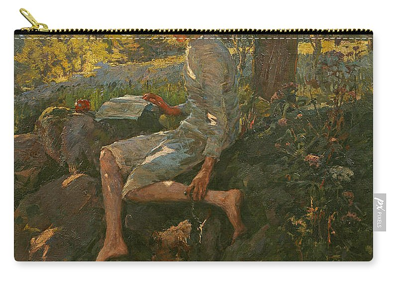 Half Carry-all Pouch featuring the painting The Half Holiday by Elizabeth Adela Stanhope Forbes