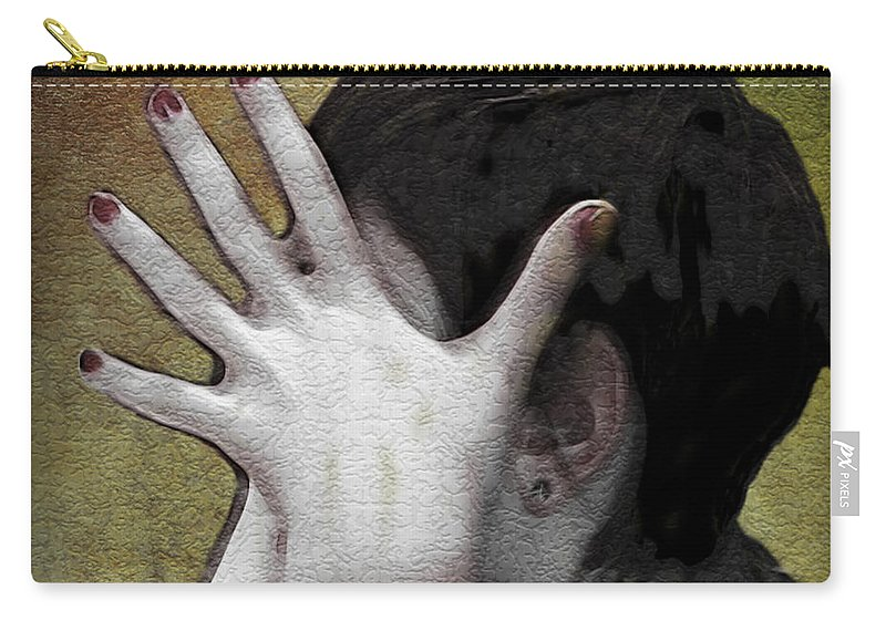 Portrait Carry-all Pouch featuring the photograph The Hand by Joan Minchak